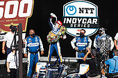 #30: Takuma Sato, Rahal Letterman Lanigan Racing Honda celebrates with the traditional milk