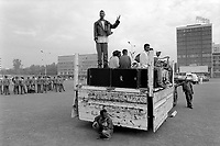 Ethiopia. Addis Ababa is the capital city and the name of a region of Ethiopia. Masqual square. The band of the Circus Ethiopia stands on the back of a pick-up truck. Circus Ethiopia was legally established in 1991 with a view to introduce circus art in Ethiopia. Ever since its creation Circus Ethiopia has given new dimension to  circus art in Ethiopia but as well internationally. By blending the art with the Ethiopian traditional costume, music and dance, Circus Ethiopia with its associative approach has inspired many circuses to grow throughout Ethiopia. Meskel Square (often transliterated as Masqual, Meskal or Mesqel) is a square in the city of Addis Ababa. It is often a site for public gathering or for demonstrations and festivals, notably, the Meskel Festival from which it takes its name. © 1996  Didier Ruef