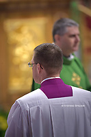 Young deacon, priest;Pope Francis arrives in procession to celebrate the concluding Mass of the Synod of Bishops for the Amazon at the Vatican Oct. 27, 2019.