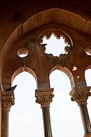 India, Gujarat, Bhuj. Prag Mahal Palace, 19th-century palace next to Aina Mahal.