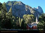 Yosemite Valley Chapel, 1879, Sentinel Meadow, Yosemite National Park