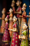 June 21 2012, New Delhi, India: Figurines on display outside the chic store  Poonam Backliwal in New Delhi's Sundar Nagar. An enclave full of jewellery stores, tea houses and antiques shops it is a magnet for tourists looking for the unique Indian gift and local well heeled residents to shop.         Picture by Graham Crouch/Holland Herald