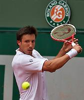 Paris, France, 22 june, 2016, Tennis, Roland Garros, Igor Sijsling (NED) wins first round match<br /> Photo: Henk Koster/tennisimages.com