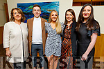 """Geraldine and Darragh Hurley, Laura Brassil, Valerie Kerins and Aine Hurley attending the """"Strictly Come Dancing"""" Mr and Mrs in the Ballyroe Heights Hotel"""
