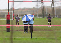 Thursday 13 November 2014<br /> Pictured: Fiji Rugby Team <br /> Re: Members of the Fiji rugby team training in Llanrumney, Cardiff, Wales, ahead of their match against Wales at the Millennium Stadium on Saturday 15th November 2014.