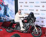 Hollywood, CA - NOVEMBER 04: Stan Lee arrives to Marvel's  THOR: THE DARK WORLD Premiere held at El Capitan Theatre in Hollywood, California on November 04,2012                                                                               © 2013 Hollywood Press Agency