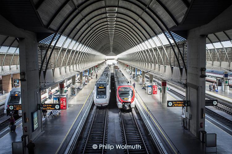 Santa Justa railway station, Seville, Spain.