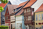 Germany, Thuringia, Schleusingen: half-timbered house in town centre   Deutschland, Thueringen, Schleusingen im Henneberger Land: Fachwerkhaeuser im Zentrum