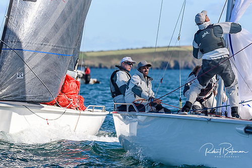 Anthony O'Leary's Antix is lying second at the 1720 Munsters in Cork Harbour Photo: Bob Bateman