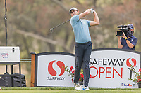 11th September 2020, Napa, California, USA;  Brendan Steele of the United States tees off during the second round of the Safeway Open PGA tournament on September 11, 2020 at Silverado Country Club in Napa, CA.