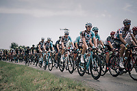 Romain Bardet (FRA/AG2R-La Mondiale) surounded by his Team AG2R-La Mondiale teammates in the peloton<br /> <br /> 104th Tour de France 2017<br /> Stage 6 - Vesoul › Troyes (216km)