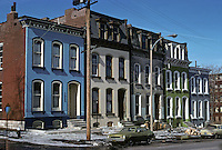 St. Louis: Row Houses, Mississippi St. west of Lafayette Park. Photo '77.