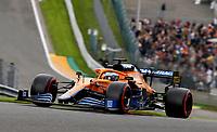 27th August 2021; Spa Francorchamps, Stavelot, Belgium: FIA F1 Grand Prix of Belgium, free practise:   3 Daniel Ricciardo AUS, McLaren F1 Team