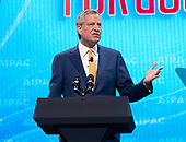 Mayor Bill de Blasio (Democrat of New York, New York) speaks at the American Israel Public Affairs Committee (AIPAC) 2019 Policy Conference at the Washington Convention Center in Washington, DC on Monday, March 25, 2019.<br /> Credit: Ron Sachs / CNP<br /> (RESTRICTION: NO New York or New Jersey Newspapers or newspapers within a 75 mile radius of New York City)