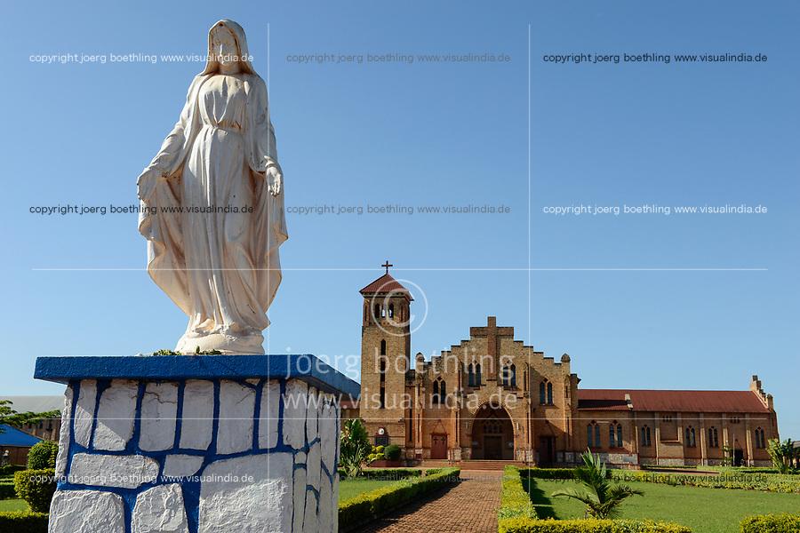 RWANDA, Butare, catholic cathedral, mother mary statue