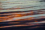Reflections on the water on Stockton Beach, Anna Bay, NSW, Australia