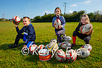 Ready to return to training at the Tralee Rugby club on Saturday morning. L to r: Aaron Costello, Shona O'Neill and Sadie Lynch.
