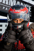 Aug 31, 2014; Clermont, IN, USA; NHRA funny car driver Bob Tasca III during qualifying for the US Nationals at Lucas Oil Raceway. Mandatory Credit: Mark J. Rebilas-USA TODAY Sports