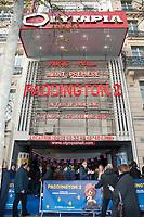 November 19 2017 PARIS FRANCE Arrival of Actor Hugh Grant at the Premiere of Paddington 2 at Olympia on Boulevard des Capucines Paris.