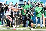North Texas Mean Green running back Brandin Byrd (24) in action during the Heart of Dallas Bowl game between the North Texas Mean Green and the UNLV Rebels at the Cotton Bowl Stadium in Dallas, Texas. UNT defeats UNLV 36 to 14.
