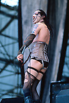 Various live photographs of the rock band, Marilyn Manson
