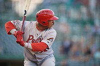 Peoria Chiefs Leandro Cedeno (36) during a Midwest League game against the Fort Wayne TinCaps on July 17, 2019 at Parkview Field in Fort Wayne, Indiana.  Fort Wayne defeated Peoria 6-2.  (Mike Janes/Four Seam Images)