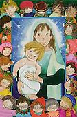 Interlitho, Soledad, CHRISTMAS CHILDREN, naive, paintings, Mary, Jesus, kids(KL2321,#XK#) Weihnachten, Navidad, illustrations, pinturas