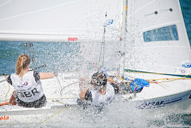 United Kingdom420WomenCrewGBREB26EmmaBaker<br /> United Kingdom420WomenHelmGBRJC149JenniferCropley<br /> Day2, 2015 Youth Sailing World Championships,<br /> Langkawi, Malaysia