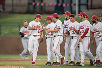 STANFORD, CA - MAY 27: Brendan Beck, team after a game between Oregon State University and Stanford Baseball at Sunken Diamond on May 27, 2021 in Stanford, California.