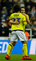 Blackburn Rovers' Bradley Dack celebrates scoring the opening goal with Craig Conway<br /> <br /> Photographer Alex Dodd/CameraSport<br /> <br /> Emirates FA Cup Third Round - Newcastle United v Blackburn Rovers - Saturday 5th January 2019 - St James' Park - Newcastle<br />  <br /> World Copyright © 2019 CameraSport. All rights reserved. 43 Linden Ave. Countesthorpe. Leicester. England. LE8 5PG - Tel: +44 (0) 116 277 4147 - admin@camerasport.com - www.camerasport.com