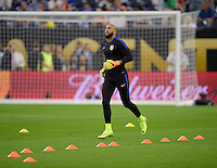 Houston, TX - Tuesday June 21, 2016: Tim Howard prior to a Copa America Centenario semifinal match between United States (USA) and Argentina (ARG) at NRG Stadium.