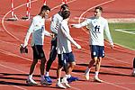 Spain's Sergio Busquets, David De Gea, Sergio Roberto and Sergio Reguilon during training session. October 6,2020.(ALTERPHOTOS/Acero)