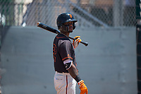 San Francisco Giants Black left fielder Christopher Burks (22) during an Extended Spring Training game against the Los Angeles Angels at the San Francisco Giants Training Complex on May 25, 2018 in Scottsdale, Arizona. (Zachary Lucy/Four Seam Images)