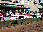 October 2, 2010.Fans line the paddock and balcony's to see Zneyatta riden by Mike Smith in the paddock before winning The Lady's Secret Stakes at Hollywood Park, Inglewood, CA._Cynthia Lum/Eclipse Sportswire.com