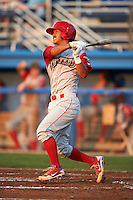 Williamsport Crosscutters catcher Chace Numata #3 during a NY-Penn League game against the Batavia Muckdogs at Dwyer Stadium on August 25, 2012 in Batavia, New York.  Batavia defeated Williamsport 6-5.  (Mike Janes/Four Seam Images)