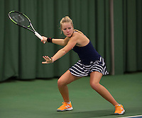 Rotterdam, The Netherlands, March 20, 2016,  TV Victoria, NOJK 14/18 years, Nina Kruijer (NED)<br /> Photo: Tennisimages/Henk Koster