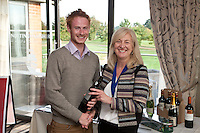 Hole 2 nearest the pin - from Nottingham pin team - is Martyn Solari, with NCBC Chairman Dianne Allen