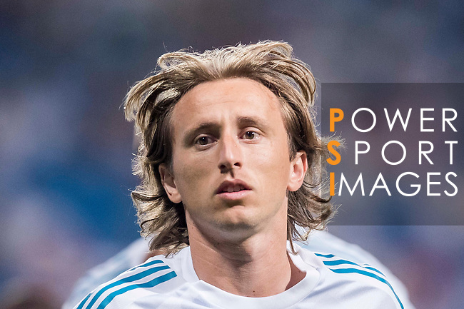 Luka Modric of Real Madrid in training prior to the Supercopa de Espana Final 2nd Leg match between Real Madrid and FC Barcelona at the Estadio Santiago Bernabeu on 16 August 2017 in Madrid, Spain. Photo by Diego Gonzalez Souto / Power Sport Images
