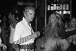 HELMUT BERGER CON URSULA ANDRESS<br /> FESTA PER I 30 ANNI DI HELMUT BERGER JACKIE O' ROMA 1974