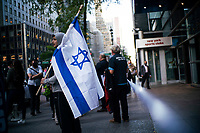 NEW YORK, NY - OCTOBER 15: Jewish congregations members take part in a protest  on October 15, 2020 in New York, Rabbis from the congregations of Netzach Yisroel, Yesheos Yakov and Oholei Shem D'Nitra filed lawsuit in Manhattan federal after NY governor Cuomo ordered gatherings in places of worship to be limited to 25 percent capacity, or a maximum of 10 people. (Photo by Eduardo MunozAlvarez/VIEWpress)