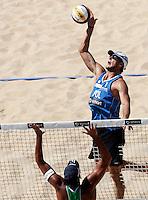 Campionati mondiali di beach volley, Roma, 17 giugno 2011..Poland's Michal Kadziola in action during the Beach Volleyball World Championship in Rome, 17 june 2011..UPDATE IMAGES PRESS/Riccardo De Luca