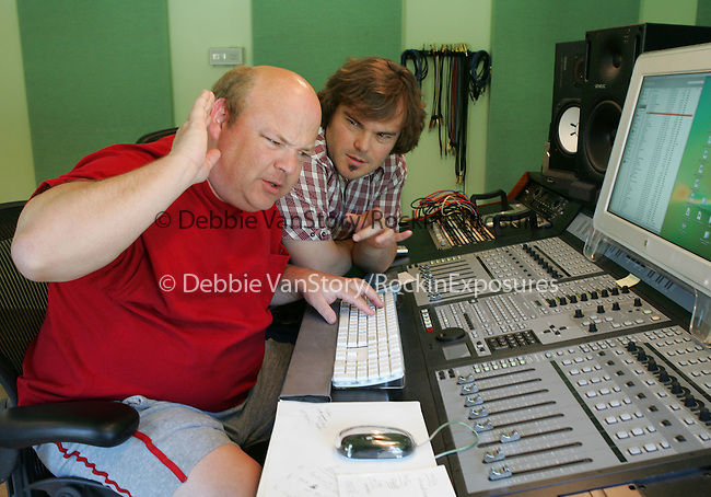 EXCLUSIVE-Jack Black and Kyle Gass of Tenacious D in studio in Hollywood,California on July 13, 2006.Copyright 2006 by Debbie VanStory
