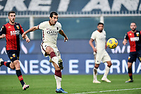 Henrikh Mkhitaryan of AS Roma scores a goal during the Serie A football match between Genoa CFC and AS Roma at Marassi Stadium in Genova (Italy), November 11th, 2020. Photo Image Sport / Insidefoto