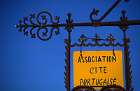 Afrique/Maghreb/Maroc/El-Jadida : Enseigne en souvenir des origines portugaises de la cité