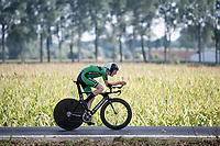 Conal Scully (IRE)<br /> <br /> Junior Men Individual Time Trial from Knokke-Heist to Bruges (22.3 km)<br /> <br /> UCI Road World Championships - Flanders Belgium 2021<br /> <br /> ©kramon