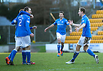 St Johnstone v Partick Thistle....17.01.15  SPFL<br /> Steven MacLean runs to celebrate with Dave Mackay<br /> Picture by Graeme Hart.<br /> Copyright Perthshire Picture Agency<br /> Tel: 01738 623350  Mobile: 07990 594431