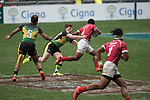 Tonga vs Jamaica during their Pool E match as part of the HSBC Hong Kong Rugby Sevens 2017 on 07 April 2017 in Hong Kong Stadium, Hong Kong, China. Photo by Weixiang Lim / Power Sport Images