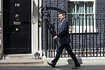 © Joel Goodman - 07973 332324 . 11/05/2015 . London , UK . JEREMY HUNT arrives at 10 Downing Street this afternoon (11th May 2015) . Photo credit : Joel Goodman