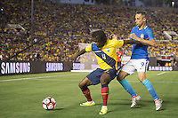 Action photo during the match Brazil vs Ecuador, Corresponding Group -B- America Cup Centenary 2016, at Rose Bowl Stadium<br /> <br /> Foto de accion durante el partido Brasil vs Ecuador, Correspondiante al Grupo -B-  de la Copa America Centenario USA 2016 en el Estadio Rose Bowl, en la foto: (i-d) Juan Carlos Paredes de Ecuador y Jonas de Brasil<br /> <br /> <br /> 04/06/2016/MEXSPORT/Omar Martinez.