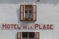 France, Pas-de-Calais (62), Côte d'Opale, Wissant, hôtel de la Plage // France, Pas de Calais, Cote d'Opale (Opal Coast), Wissant, hotel de la Plage